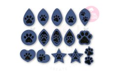 Paw Print Earring Template |60 Templates Earring svg Product Image 3