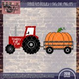 Tractor and Pumpkins SVG, DXF, PNG, EPS Comm and Pers Product Image 2