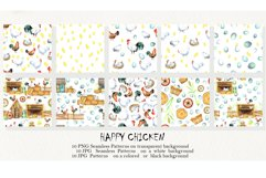 Happy Chicken Seamless patterns Product Image 2