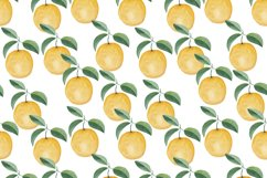 Watercolor citrus clipart Orange digital paper Product Image 5
