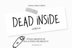Dead Inside Chilling Font Product Image 1
