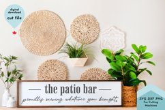 The Patio Bar SVG, Funny Sarcastic Porch Sign SVG Product Image 1