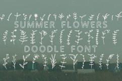 Summer flowers doodle font in ttf, otf Product Image 1