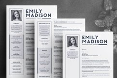 TEACHER Resume Template for MS Word | 2 Page Resume Product Image 3