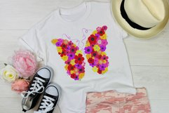 Floral Butterfly T-shirt Sublimation Design Product Image 2