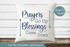 Prayers Go Up SVG, png, eps, sublimation, printable Product Image 2