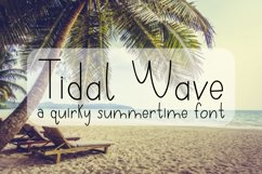 Tidal Wave - A Quirky Hand-Written Font Product Image 1