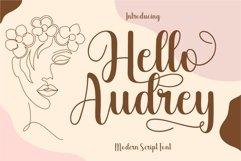 Hello Audrey - Modern Script Font Product Image 1