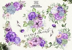 Ultra Violet watercolor design Product Image 2