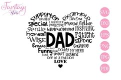 Dad Word Art - Svg Cut Files Product Image 1