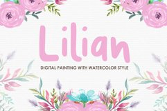 Lilian - Digital Watercolor Floral Flower Style Clipart Product Image 1