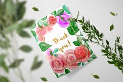 Watercolor roses flowers and leaves Photoshop Brushes Product Image 5
