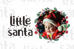 Little Santa Font | merry christmas font | 8 christmas cards Product Image 5