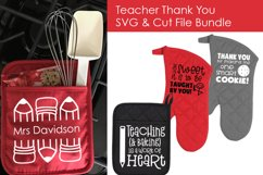 Teacher Thank You Oven Mitts - Teacher SVG files 4 Crafters Product Image 2