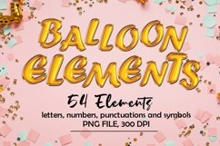 Balloon Alphabets Clipart, Balloon Foil Letters Product Image 1