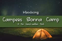 Campers Gonna Camp - A Fun Hand-Written Font Product Image 1