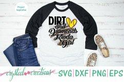 Dirt and Diamonds Kinda Girl SVG, DXF, PNG, EPS Product Image 3