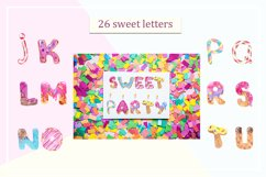Sweet alphabet. Watercolor letter Product Image 3