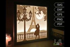 3D Wedding Light Box Template, Layered Love Shadow Box svg Product Image 6