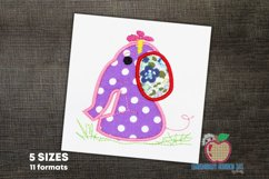 Baby Girl Elephant Embroidery Applique Product Image 1