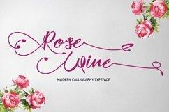 Web Font Rose Wine Typeface Product Image 1