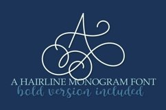 Hairline Monogram Font - Bold Version Included Product Image 1