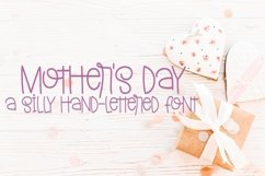 Web Font Mother's Day - A Silly Hand-Lettered Font Product Image 1