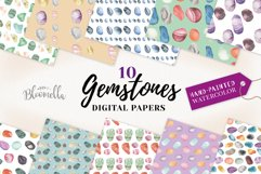 Gemstones Seamless Patterns Digital Papers Crystals Gems Product Image 1