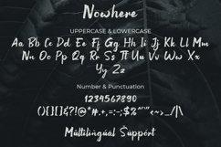 Nowhere Handwritten Brush Font Product Image 3
