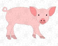 Pig SVG / Pig Clipart Product Image 1