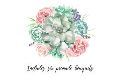 Watercolor Succulents and Greenery Product Image 4
