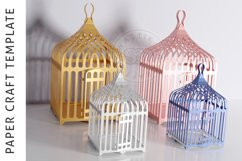 Papercraft Bird Cage / Paper Lamp /DXF Files For laser cut Product Image 3