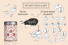 Collection with apple fruits illustration. Hand drawn sketch Product Image 2