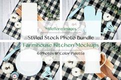 Farmhouse Kitchen Flatlays Craft Mockups JPEG Photo Bundle Product Image 1