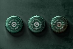 Bottle Cap Metal Tin Signs Mockup Product Image 3