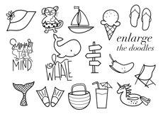 Summer Break / Summer Doodle Font  Product Image 4