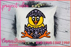 CLUCKY THE CHICK SVG 2 MANDALA ZENTANGLE EASTER DESIGNS Product Image 5