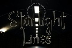 Starlight Lines - Beautiful Line Font Product Image 1