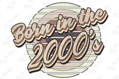 Retro born in the 2000s sublimation png, 2000s T-shirt desig Product Image 6