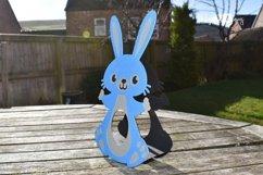 Bunny Rabbit Easter egg holder design SVG / DXF / EPS files. Product Image 4