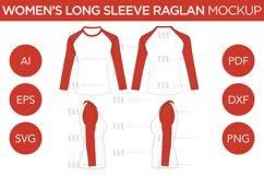 Raglan Women's Short Sleeve Shirt - Vector Mockup Template Product Image 3