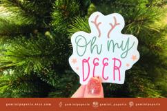Christmas Sticker   Printable Christmas Sticker Print Cut Product Image 4