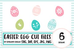 Decorated Easter Egg SVG and Cut File Set Product Image 1