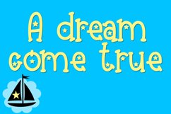 Dreamboat - A Bright Font with Stars Product Image 4