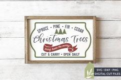 Christmas Tree Farm SVG Files, Farmhouse Christmas SVG Product Image 1