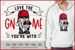 Love The GNOME You're With Valentine Gnomes SVG, Biker Gnome Product Image 1