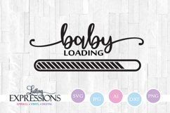 Baby Loading // Pregnancy // SVG Quote Design Product Image 1