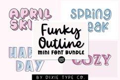 MINI FONT BUNDLE - Funky Outline Fonts Product Image 1