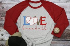 Baseball Mom - Baseball Heart - Baseball Love SVG Product Image 2