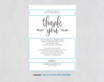Thanks wedding sign, TOS_47 Product Image 3
